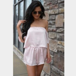 Reverse Pants - $20❤New Sexy Off the Shoulder Pink Romper