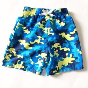 Flapdoodles Other - Flapdoodles [boys] Blue camo Swim Trunks Shorts