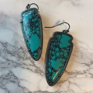 Kendra Scott Skylar Earrings in Teal Magnesite