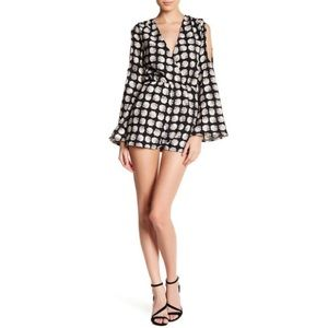 ️Lucca Couture Pants - $20❤️V-Neck Long Sleeve Cold Shoulder Romper