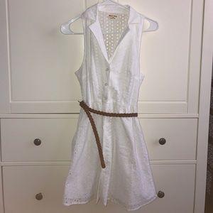 Black Poppy Dresses & Skirts - 🎉HOST PICK🎉 White Lace Dress with Braided Belt