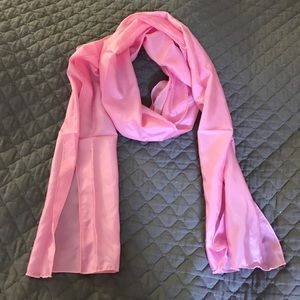 Accessories - Long Light Pink Silk Satin Scarf/Wrap - NWOT