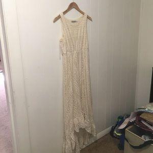 Solitaire Cream Lace Dress Medium