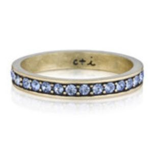 Chloe + Isabel Jewelry - Blue Topaz Pavé Stacking Ring