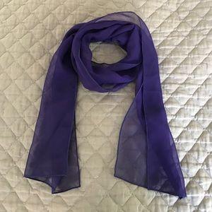 Accessories - Small Purple Silk Chiffon Scarf - NWOT