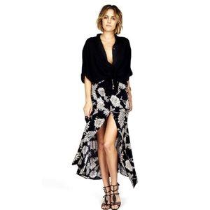 Novella Royale Dresses & Skirts - Novella Royale Dark Light Skirt in Black Dahlia