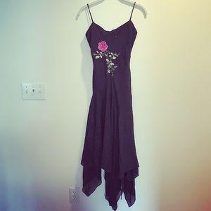 Beautiful black floral beaded midi formal dress