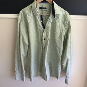 Stone Rose Other - Men's Stone Rose green striped dress shirt.