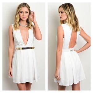 Dresses & Skirts - NWT Ivory deep v dress