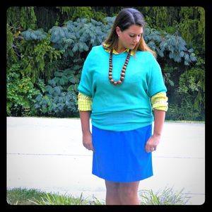 J. Crew Factory Dresses & Skirts - J. Crew Vibrant Blue Skirt