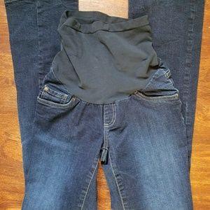 Indigo Blue Pants - Maternity jeans sz large indigo blue motherhood