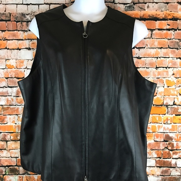 34bd04b47fd Caslon Jackets   Blazers - Caslon Plus Size 3X Black Leather Lamb Skin Vest