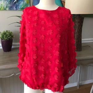 ECI Tops - EUC pink blouse with flowers