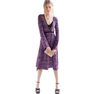 Urban Outfitters Purple Wrap Midi Dress