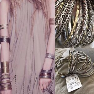 Free People Jewelry - NWT free people stacking bangles bracelet silver