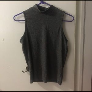 Mock Neck Ribbed Tank Top
