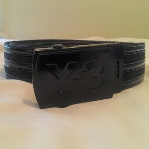 Y-3 Accessories - Y-3 patent leather/cloth belt