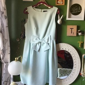 Ted Baker Blue Crepe Bow Dress