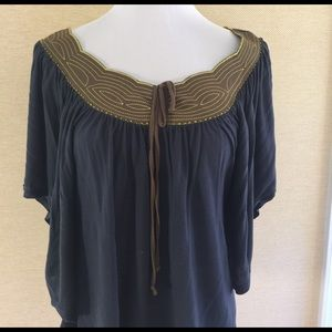 Anthropologie Tops - Size medium embroidered top