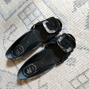 Roger Vivier Shoes - Roger Vivier black d'orsay flats