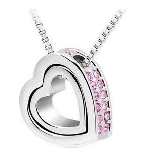 Swarovski Crystal Elements Jewelry - 💕 💎 Swarovski Crystal Elements Double Heart💕💎