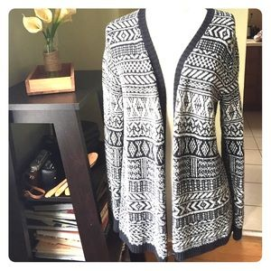 Black and White Patterned Sweater