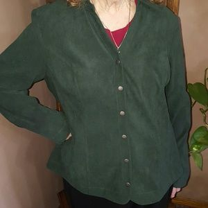 Christopher & Banks Tops - CHRISTOPHER & BANKS Emerald Green Button Blouse