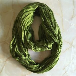 Anthropologie Accessories - NWOT Olive Green Cotton & Silk Infinity Scarf