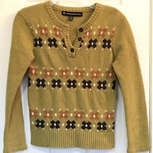 Brooklyn Industries Sweaters - Brooklyn Industries Fair Isle Dutch Shoe Sweater L