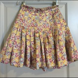 Zac Posen for Target Pleated Floral Skirt