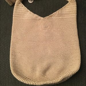 The Sak Handbags - The Sak Golden Tan Crochet Hobo Handbag Purse