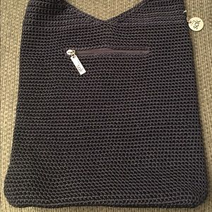 The Sak Handbags - The Sak Navy Blue Crochet Hobo Handbag Purse