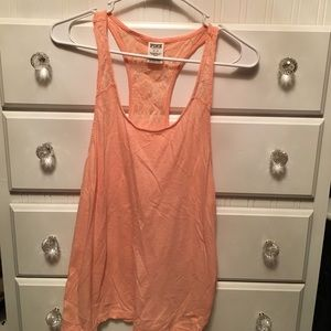 🍑 Peach 🍑 Victoria Secret PINK tank w/ lace back