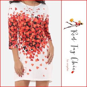 Dresses & Skirts - 💯% New Sexy Heart Printed Shift Dress