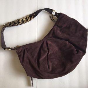 DKNY Handbags - { DKNY } chain suede bag