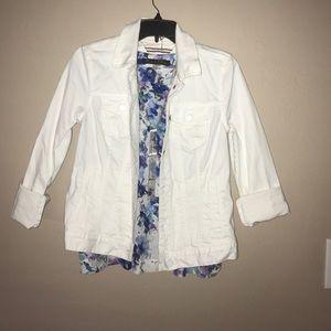 Tommy Hilfiger white jean jacket
