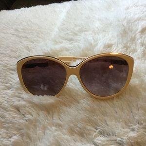 Liz Claiborne Accessories - Liz Claiborne Cream and gold sunglasses