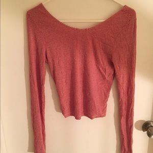 Brandy Melville Tops - Brandy Melville red checkered scoop neck tee