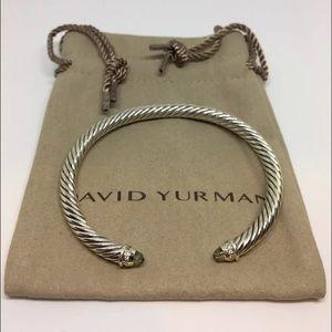 Firm, David YURMAN cable SS diamond praciolite
