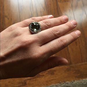 HOLD **  11mm infinity ring 11mm prasolite