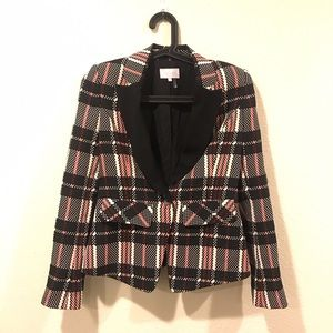 1.State Jackets & Coats - 1.State digital plaid structured blazer