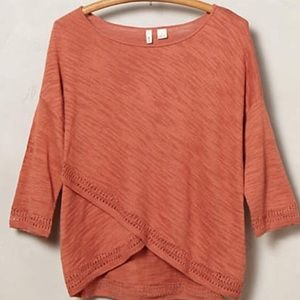 Anthropologie rust colored sweater