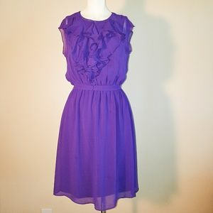 Soho Apparel Dresses & Skirts - Soho Apparel ltd Purple ruffle mid dress. Droped $