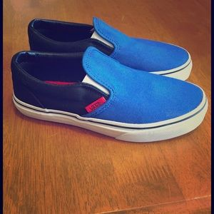 Vans Other - NIB Vans black and blue classic slip ons