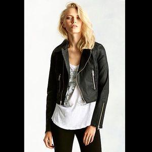 True Religion Jackets & Blazers - TRUE RELIGION Distressed Coated Moto Biker Jacket