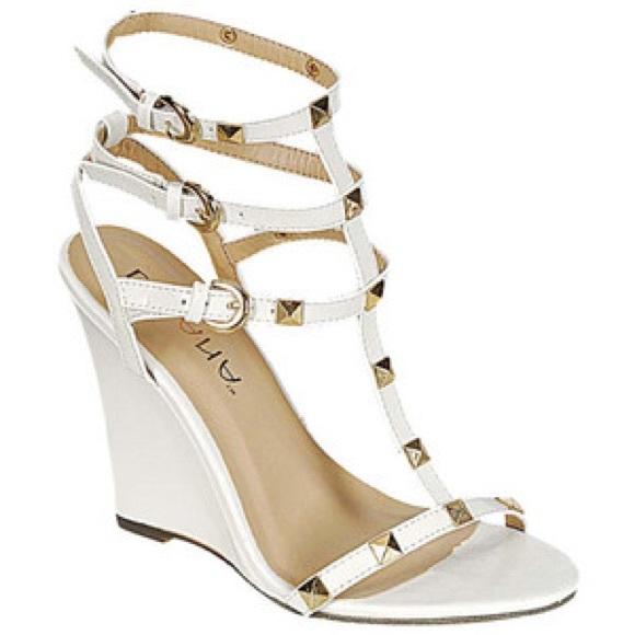 2fddd9f32e1 Caged White Gladiator Heels
