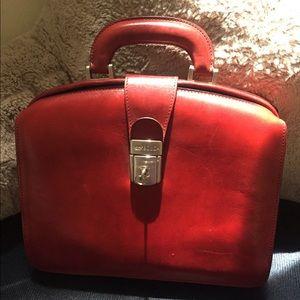 Bosca Handbags - BOSCA Red Leather Small Briefcase 💼