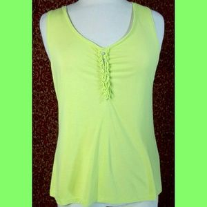 Chico's Tops - CHICO'S green/yellow rayon blend blouse 1 (S 8-10)