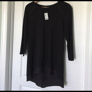 The Limited Black Tunic Top