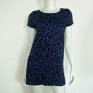 Divided Dresses & Skirts - NWT H&M Blue Leopard T Shirt Dress